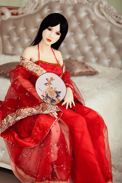 red gauze Chinese sex doll